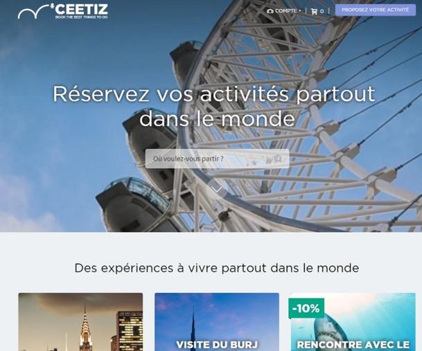 Ceetiz, plateforme de vente en ligne de billets pour les attractions touristiques, visites guidées, excursions, activités culturelles et sportives, lève 3 millions d'euros. © Capture d'écran Ceetiz