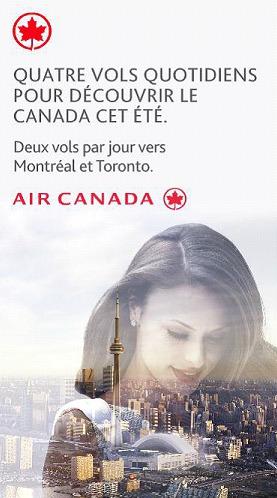 L'un des visuels de la campagne pluri-média d'Air Canada en France - DR : Air Canada