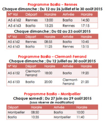HOP! volera vers Rennes, Clermont-Ferrand et Montpellier au départ de Bastia