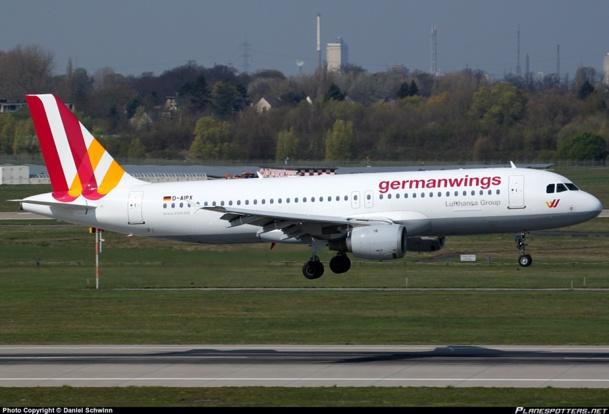Un Airbus A320 de Germanwings à l'aéroport de Düsseldorf - DR : Daniel Schwinn via www.planespotters.net