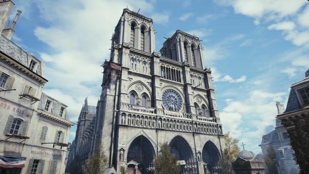 Recréer l'image est le nouveau défi que doit relever le secteur du tourisme. Dans Assassin's Creed Unity d'Ubisoft, la cathédrale Notre Dame de 1789 est ressucitée via la réalité virtuelle. Une nouvelle image, pour un nouveau tourisme ? (c) Ubisoft