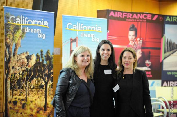 Murielle Nouchy et Sihame Haddane de Visit California et de Lauren Rogers de l'OT de Santa Monica - Photo DR
