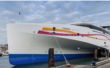Avec l'introduction du Condor Libération, Condor Ferries a lancé un nouveau logo, et un nouveau site web - Dr Condor