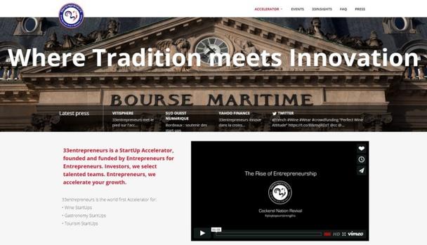 Dans la lignée de la French Tech, 33entrepreneurs propose une offre concurrentielle au niveau international pour attirer les meilleurs projets de start-ups. ©capture d'écran 33entrepreneurs