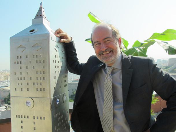 Laurent Magnin lors de l'annonce de l'ouverture de la ligne entre Marseille et New-York. DR Anaïs Borios.