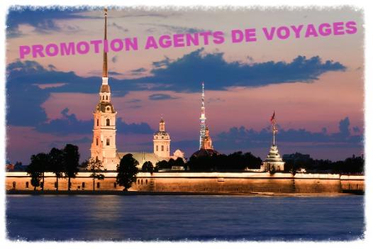 Amslav : tarif spécial agents de voyages pour Saint-Pétersbourg