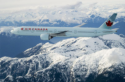 Le vol d'Air Canada a raté son atterrissage en pleine tempête de neige - Photo Air Canada
