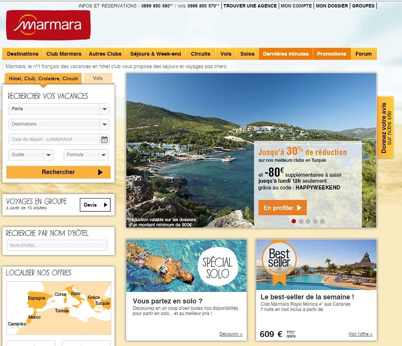 Le site de Marmara a été lancé le 7 juillet 1997. Après 11 remises à neuf, une nouvelle version est prévue pour 2015. Retour sur l'histoire d'un site web. DR Capture d'écran Marmara