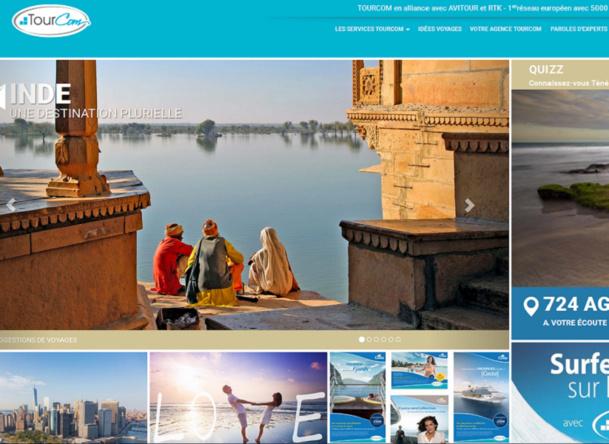 La refonte du site de Tourcom ©Tourcom