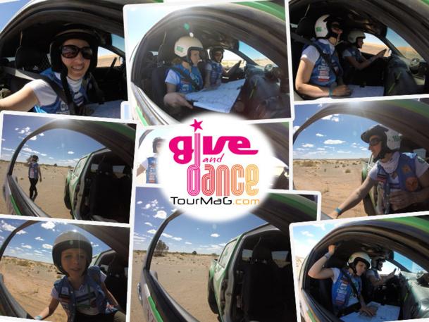 """TourMaG.com s'est engagé aux côtés de la Team 166 dans le Challenge """"Wave Relais Media"""" pour promouvoir les couleurs de l'association Give and Dance.- Montage TM.com ©Maïenga"""