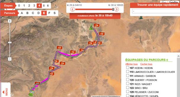 Le tracé de l'équipe d'Armelle et Marie lors de l'étape Marathon qui s'est déroulée sur deux jours ! Bravo les filles - Capture écran