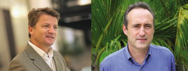 Gilbert Espitalier Noël (à gauche) est nommé PDG de Beachcomber et François Venin (à droite) va devenir Directeur Commercial du groupe le 1er juillet 2015 - Photos DR