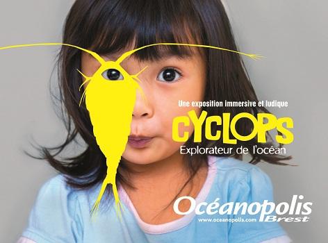 """Le visuel de l'exposition """"Cyclops, explorateur de l'océan"""" à partir du 11 avril 2015 - DR"""