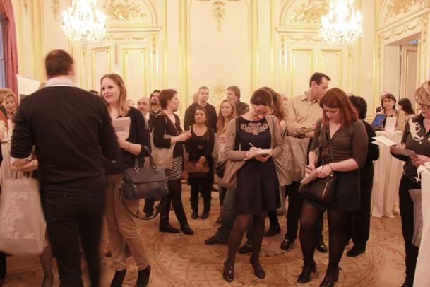 Work shop sous les lambris de l'ambassade de la République tchèque à Paris. Il fallait aussi répondre au quiz.
