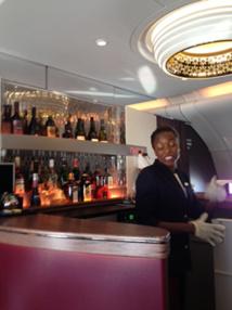 Le bar à bord de l'A380 - DR
