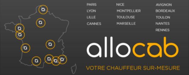 Le réseau d'Allocab.com s'élargit avec 8 nouvelles villes en France - DR : Allocab.com