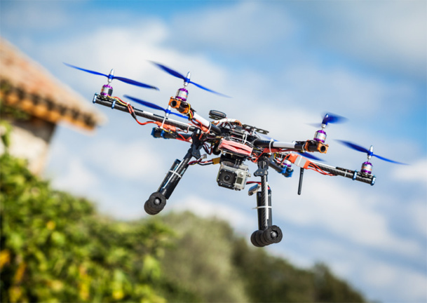 Drones are being used more frequently to shoot videos that promote regions or historic places. The new technology fascinates many but it is restrained by heavy legislation that can make shoots complicated. © funkyfrogstock - fotolia.com