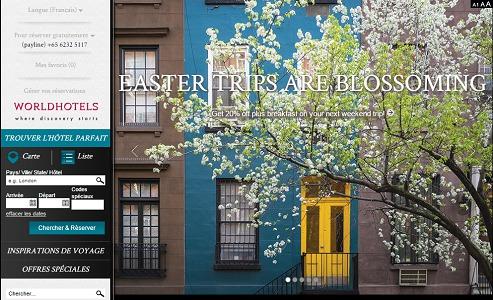 Worldhotels continue d'élargir son portefeuille mondial - Capture d'écran
