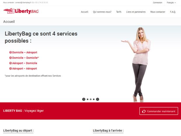 Liberty Bag : l'enregistrement est entièrement réalisé chez le client. Fini les files d'attente aux comptoirs d'enregistrement à l'aéroport - Capture écran