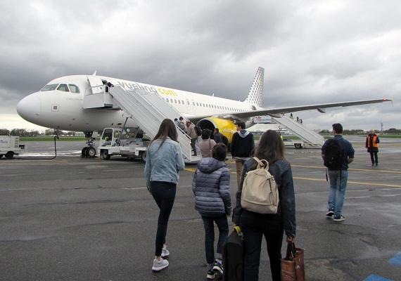 Les passagers de Vueling ont embarque à rennes direction Rome - DR : Vueling
