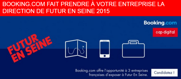 L'appel à candidatures sera clos le 20 avril 2015 - DR : Booking.com