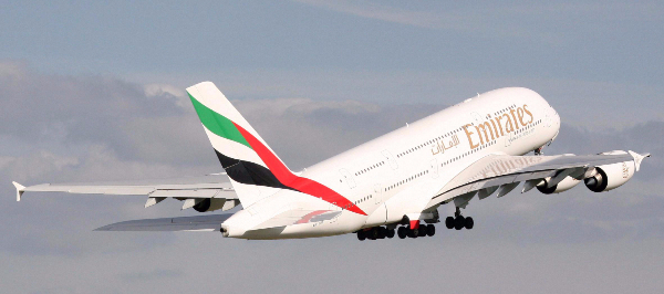 L'A380 configuré en bi-classe peut accueillir jusqu'à 615 passagers - DR : Emirates