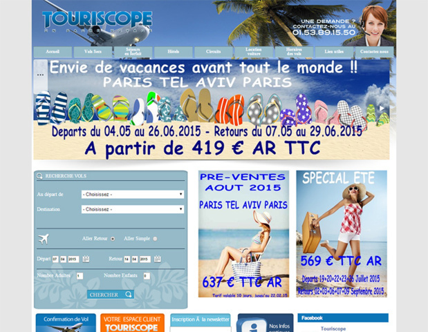 "New products, a digital brochure, the creation of a B2B website… Touriscope is going through a serious ""makeover"" - DR: Screenshot  Touriscope"