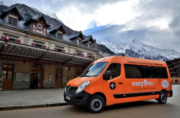 La navette easybus entre l'aéroport de Genève et la station de Chamonix a été lancée en décembre 2014. DR-easybus.