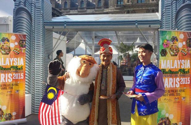Jusqu'au 17 avril 2015, sur la place du Palais Royal, la Malaisie présentera des spectacles culturels ainsi que des démonstrations de sa célèbre cuisine gastronomique - DR : Malaysia Cultural Week Paris