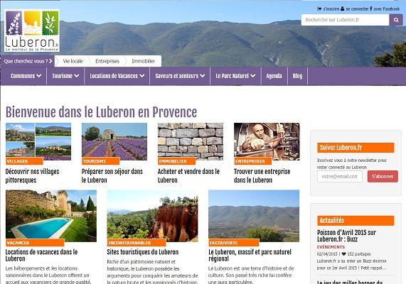 Lubéron.fr a fêté le premier anniversaire de sa mise en ligne le 1er mars 2015 - Capture d'écran