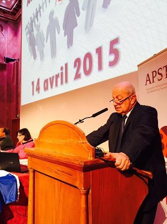 raoul Nabet prononce son discours dans le cadre de l'Assemblée générale de l'APST - Photo J.D.L.