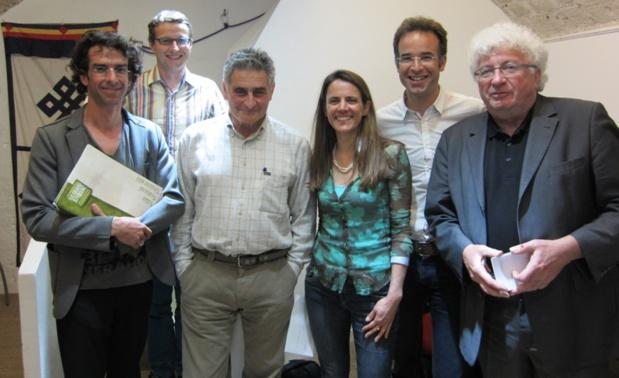 L'équipe d'Allibert Trekking avec celle du festival le Grand Bivouac ainsi que Jean-Christophe Victor. DR-LAC