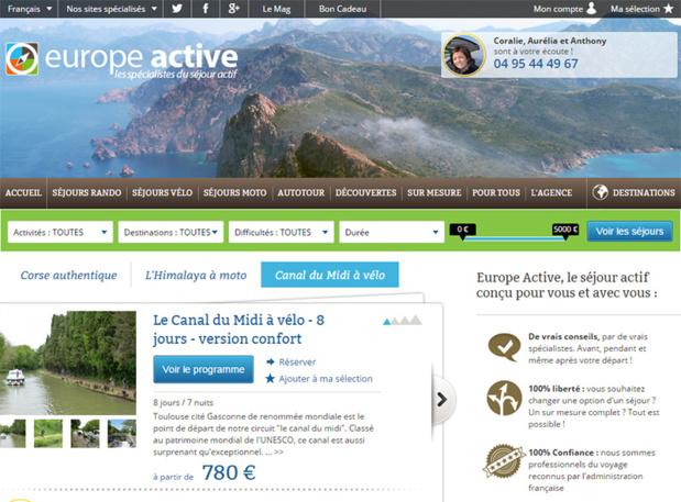 Capture d'écran Europe Active