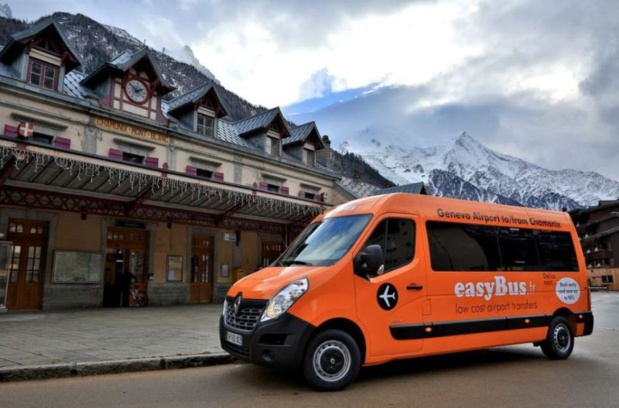 The Easybus shuttle between the Geneva airport and the Chamonix station was launched in December 2014. DR-easybus