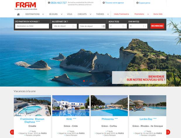 Sur la page d'accueil du site, un carrousel de promotions attirera le regard des internautes - DR : Capture d'écran Fram