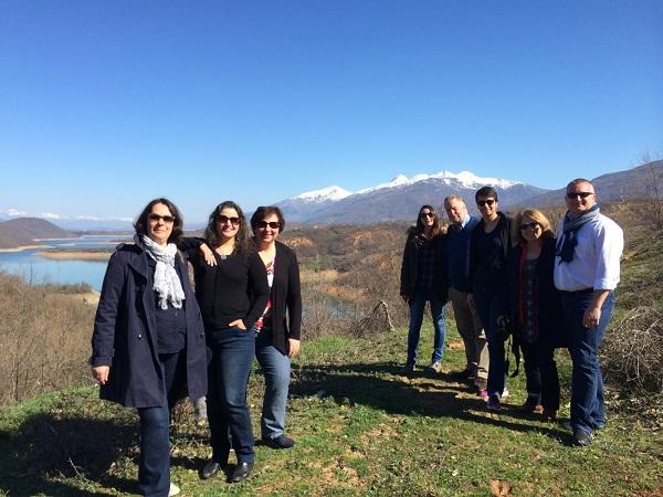Les représentants des voyagistes au parc Mavrovo en macédoine - DR : OT de Macédoine