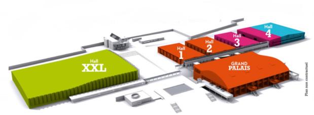 Le salon se tiendra sur un espace de 38 000 m² divisé en 6 parties - DR : Serbotel