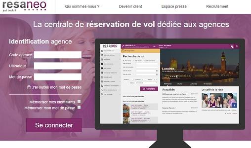 Resaneo propose la modification des billets de toutes les compagnies aériennes, même les low-cost - Capture d'écran