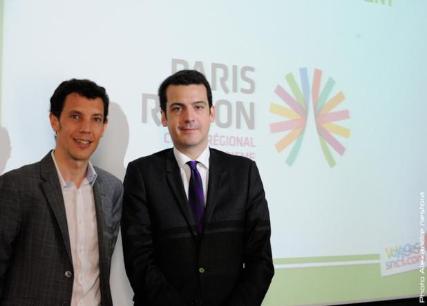 Franck Gervais, le directeur général de Voyages-sncf.com et François Navarro, le directeur général du CRT - Photo A Nestora