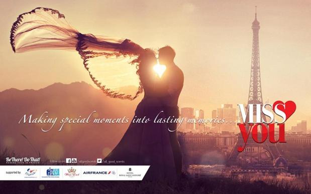 Visuel de la campagne Miss You d'Atout France sur le marché indien - DR : Atout France