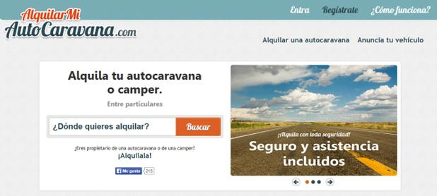 Version espagnole de JeLoueMonCampingCar.com - Capture d'écran