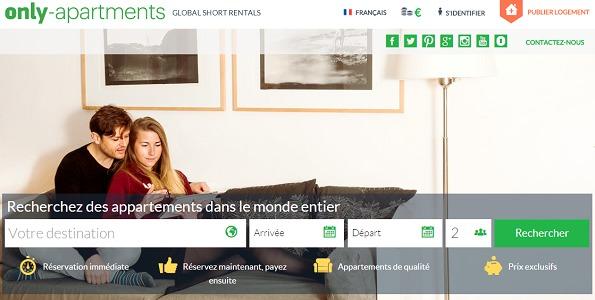 Only-Apartments enrichit son offre avec 500 nouvelles adresses - Capture d'écran
