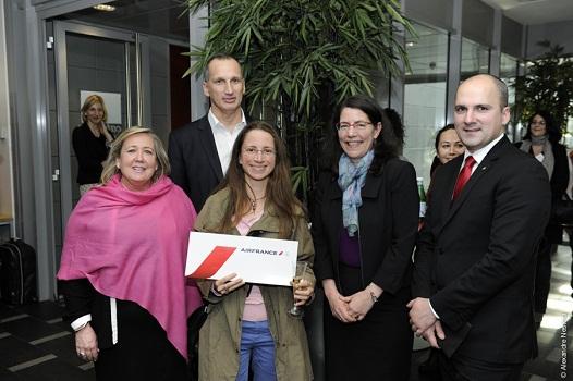 Émilie Chevillard du tour-opérateur Nord Espaces a remporté un voyage au Canada - Photo DR