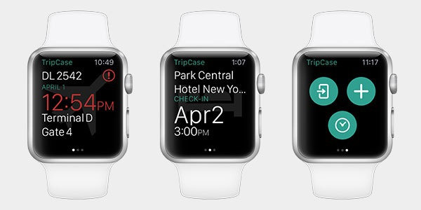 Le GDS Sabre rend son application mobile Tripcase disponible sur Apple Watch.