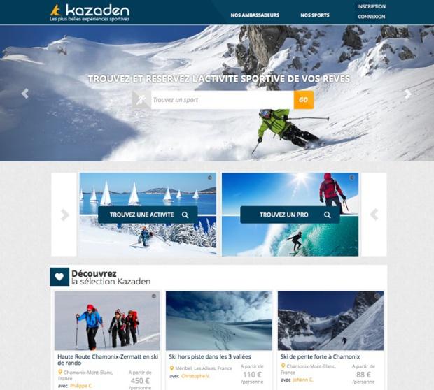 Avec Kazaden, les particuliers ont accès à un immense catalogue d'activités exceptionnelles proposées en direct par plus de 150 guides et moniteurs certifiés. (c)Kazaden