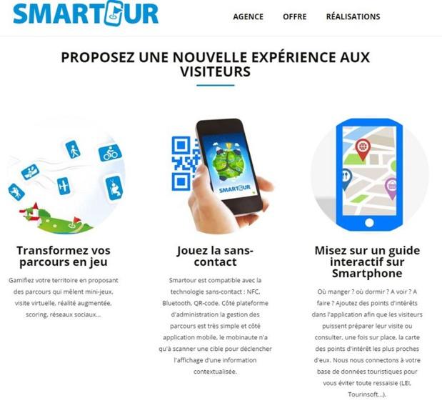 Smartour, une solution complète permettant la valorisation de parcours touristiques sur smartphones comprenant un innovant module d'accessibilité. ©Smartour