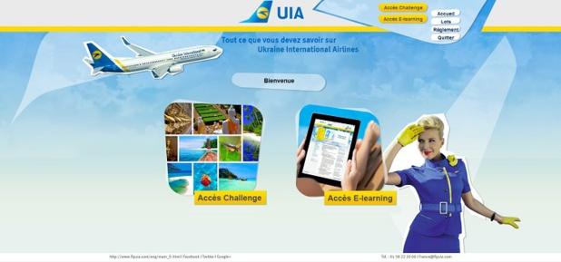 UIA met en ligne un site dédiée à son challenge de ventes et à son e-learning - DR : Ukraine International Airlines