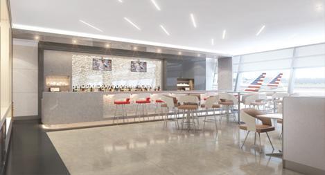 Les nouveaux salon Admirals Clubs d'American Airlines afficheront un style contemporain - DR : American Airlines