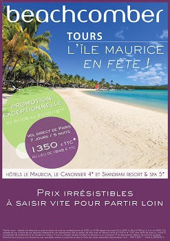 L'affiche de l'opération Île Maurice en Fête - DR : Beachcomber Tours