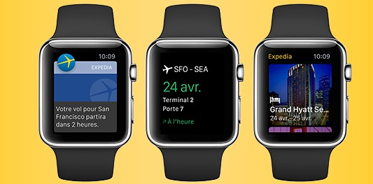 apple watch expedia lance son application gratuite. Black Bedroom Furniture Sets. Home Design Ideas